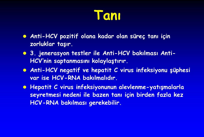 Tanı Anti-HCV pozitif olana kadar olan süreç tanı için zorluklar taşır.