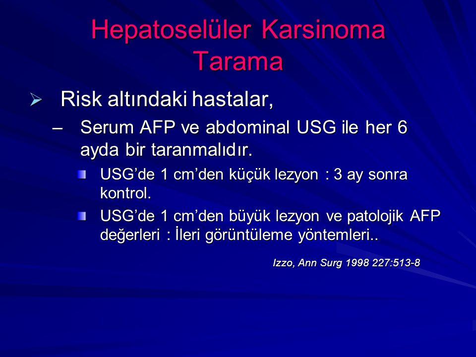 Hepatoselüler Karsinoma Tarama