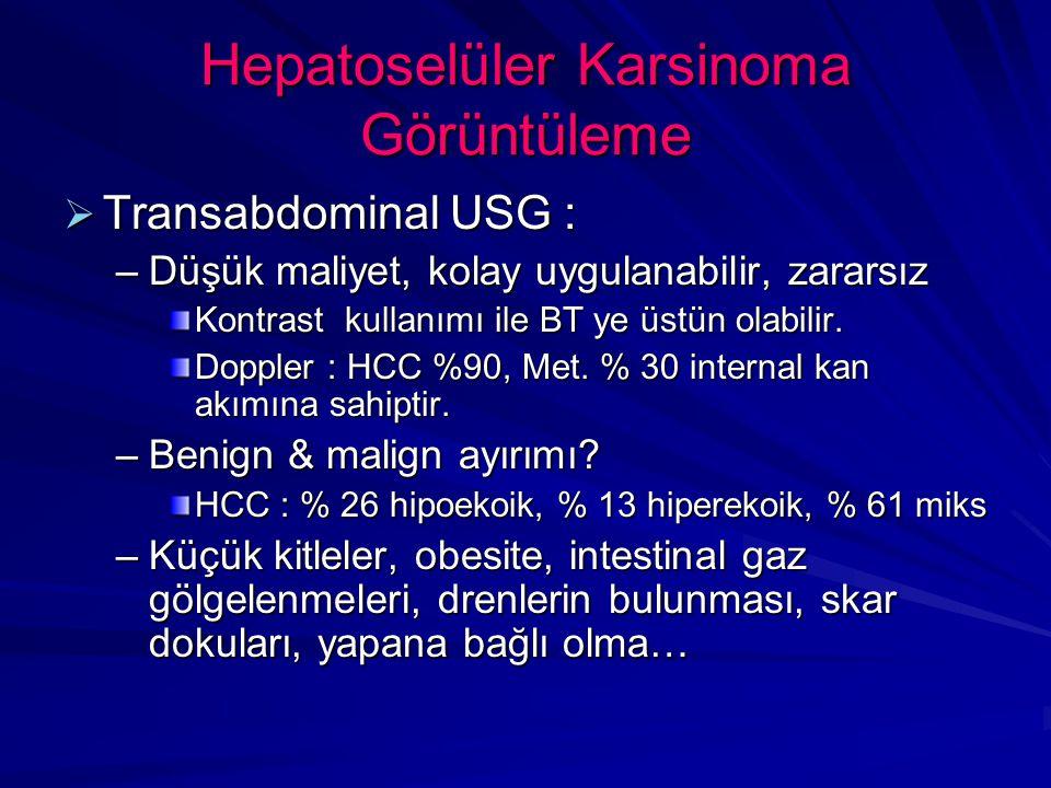 Hepatoselüler Karsinoma Görüntüleme