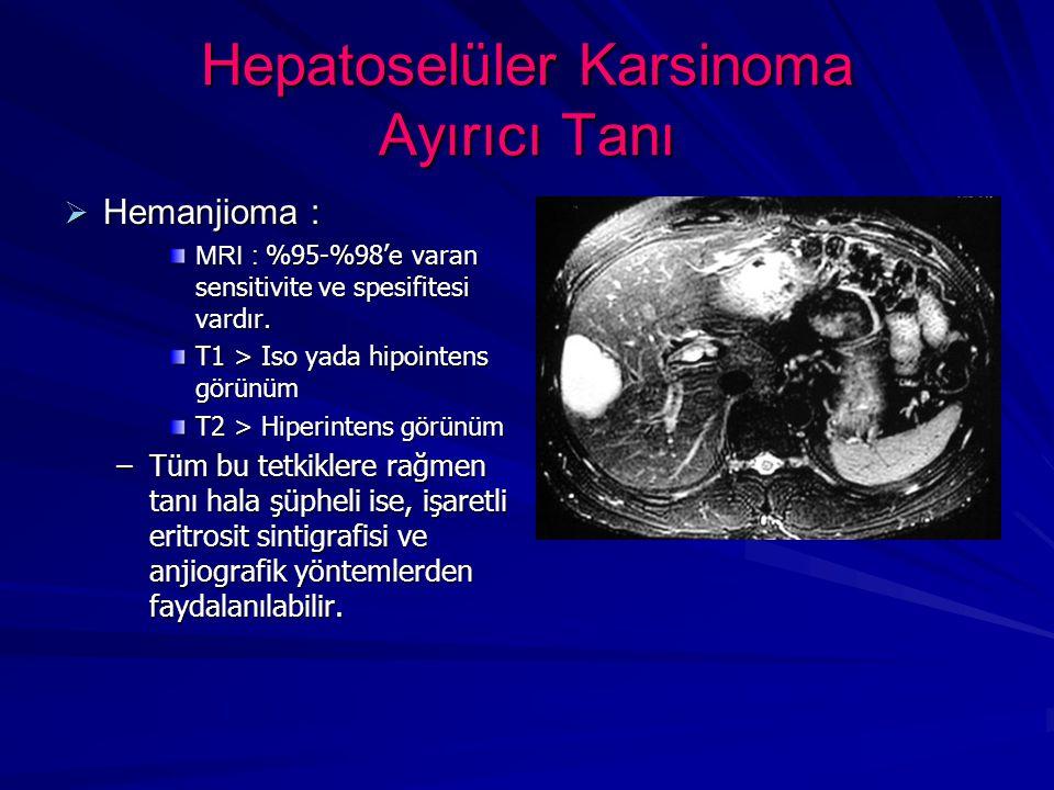 Hepatoselüler Karsinoma Ayırıcı Tanı