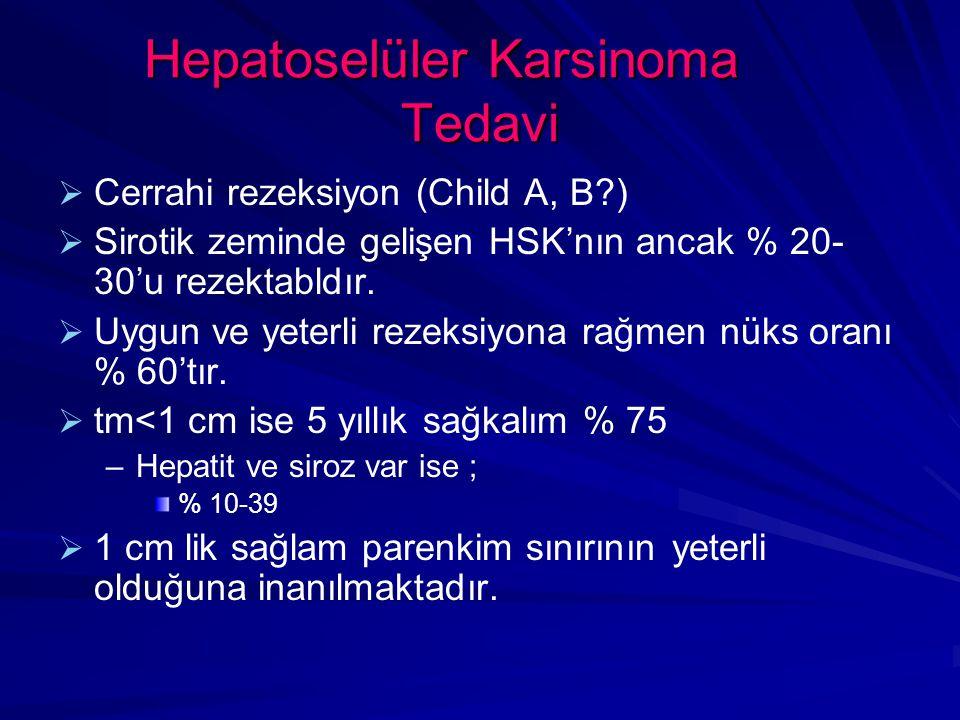 Hepatoselüler Karsinoma Tedavi