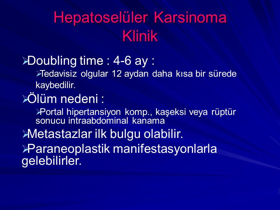 Hepatoselüler Karsinoma Klinik
