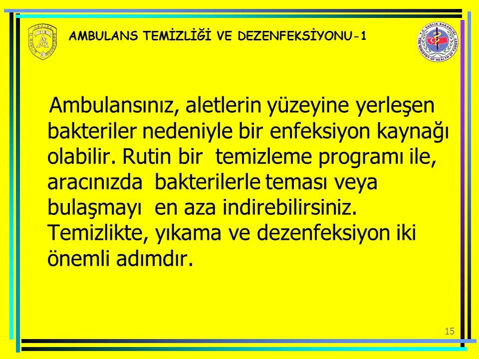 AMBULANS TEMİZLİĞİ VE DEZENFEKSİYONU-1