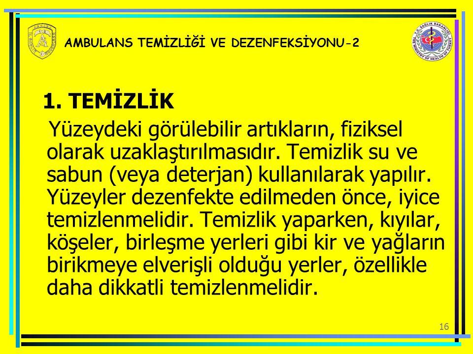 AMBULANS TEMİZLİĞİ VE DEZENFEKSİYONU-2
