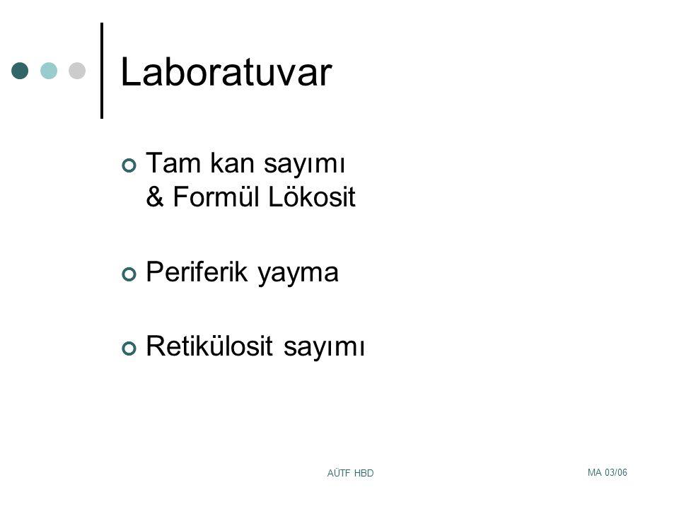 Laboratuvar Tam kan sayımı & Formül Lökosit Periferik yayma