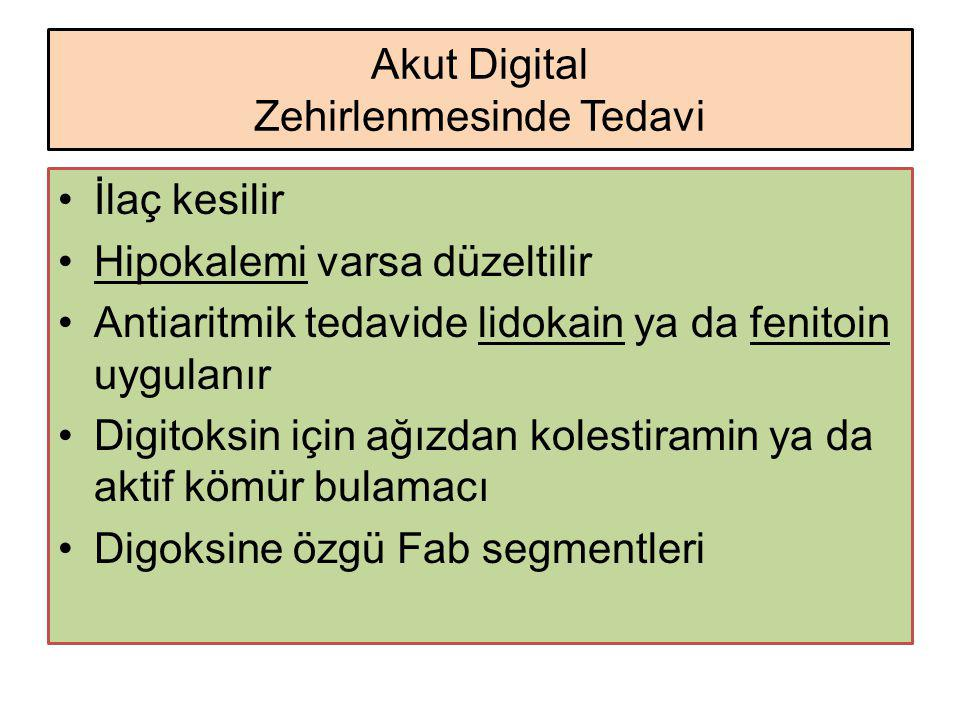 Akut Digital Zehirlenmesinde Tedavi
