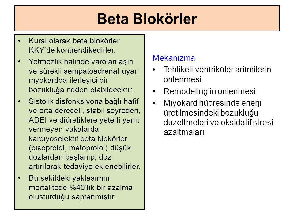 Beta Blokörler Mekanizma Tehlikeli ventriküler aritmilerin önlenmesi