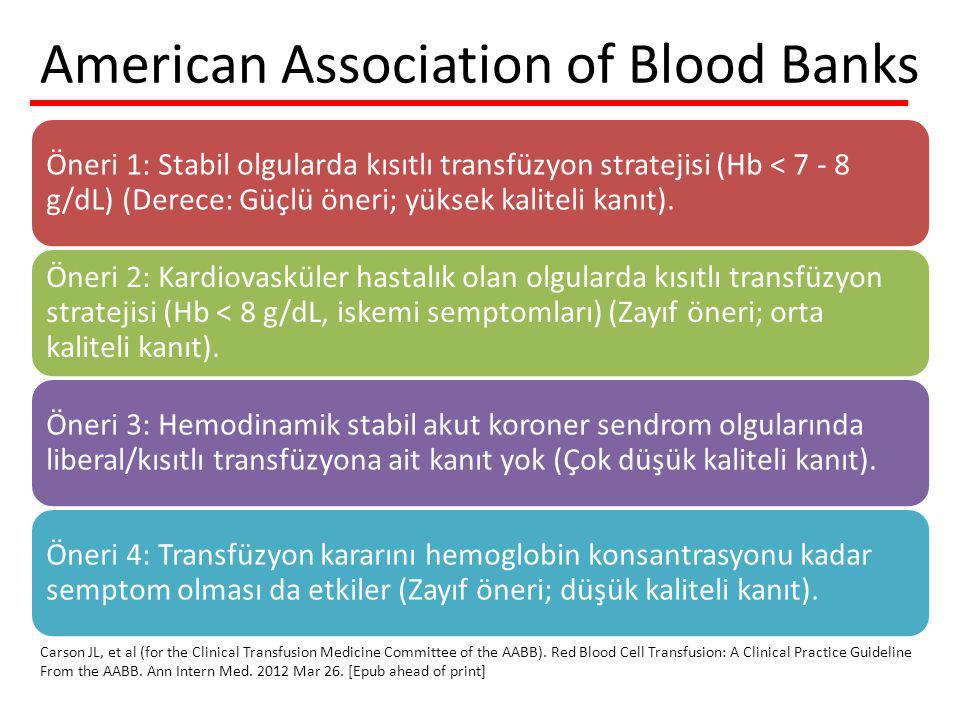 American Association of Blood Banks