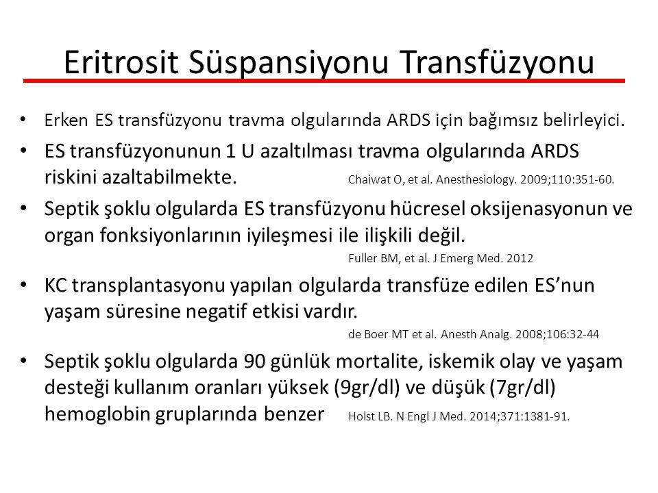 Eritrosit Süspansiyonu Transfüzyonu