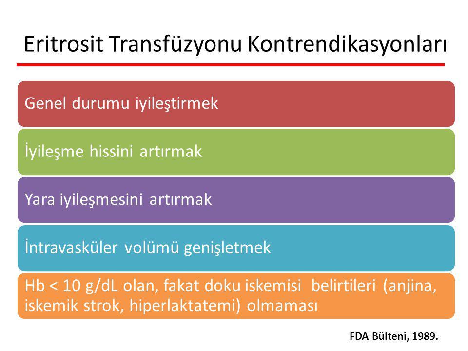 Eritrosit Transfüzyonu Kontrendikasyonları
