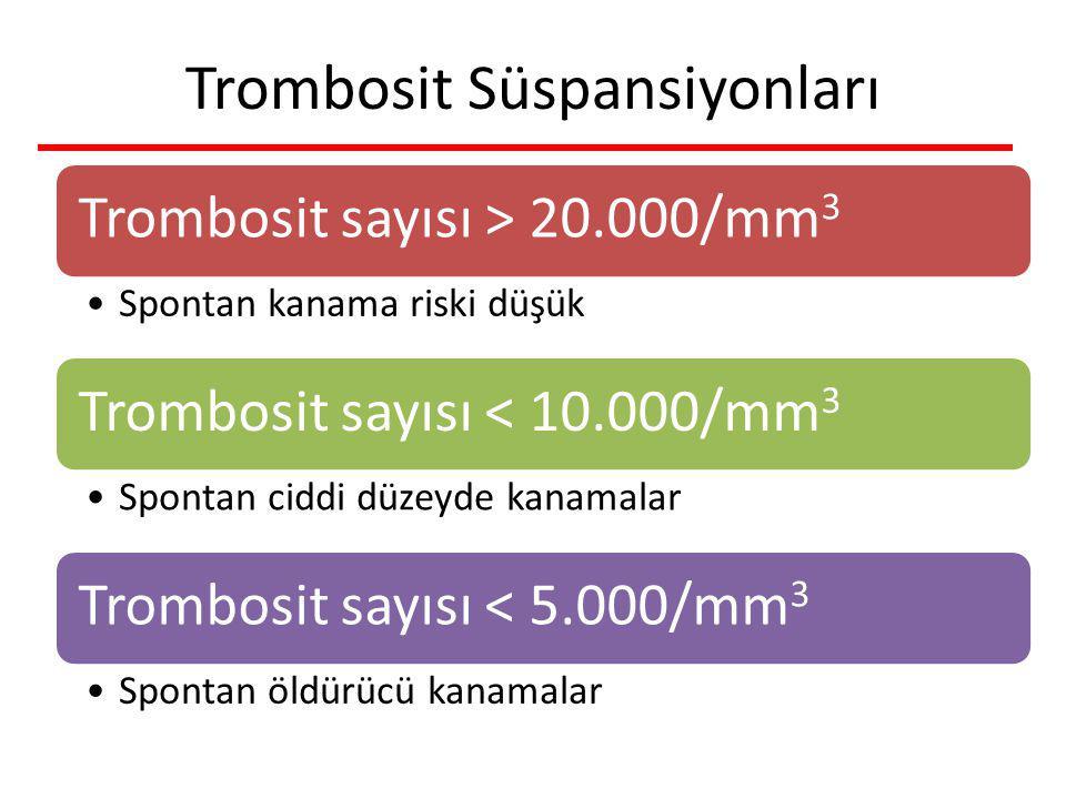 Trombosit Süspansiyonları