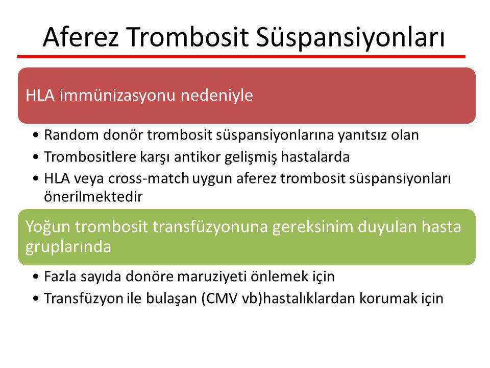 Aferez Trombosit Süspansiyonları