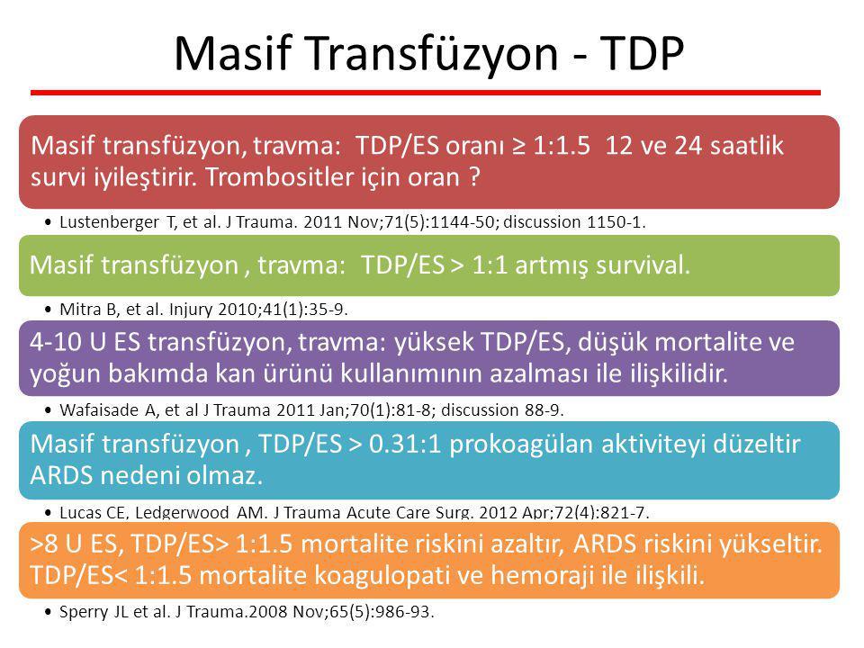 Masif Transfüzyon - TDP