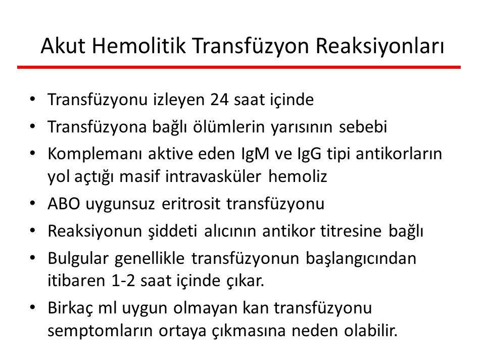 Akut Hemolitik Transfüzyon Reaksiyonları