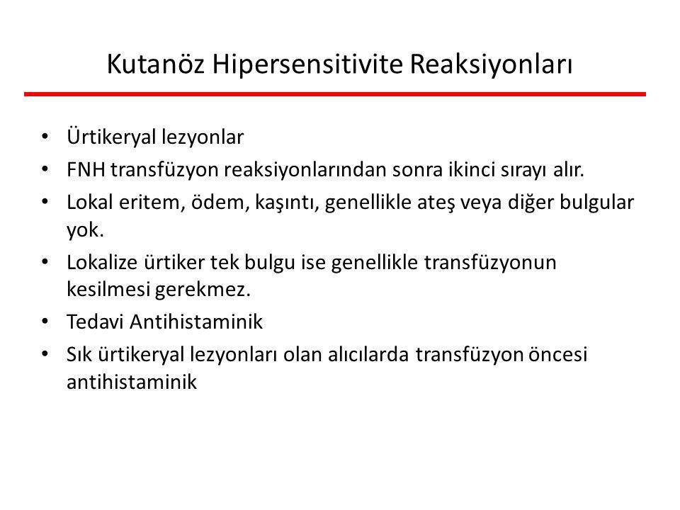 Kutanöz Hipersensitivite Reaksiyonları