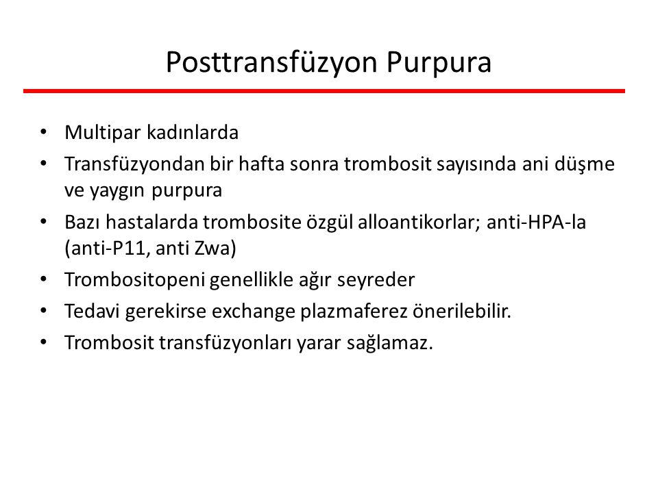 Posttransfüzyon Purpura