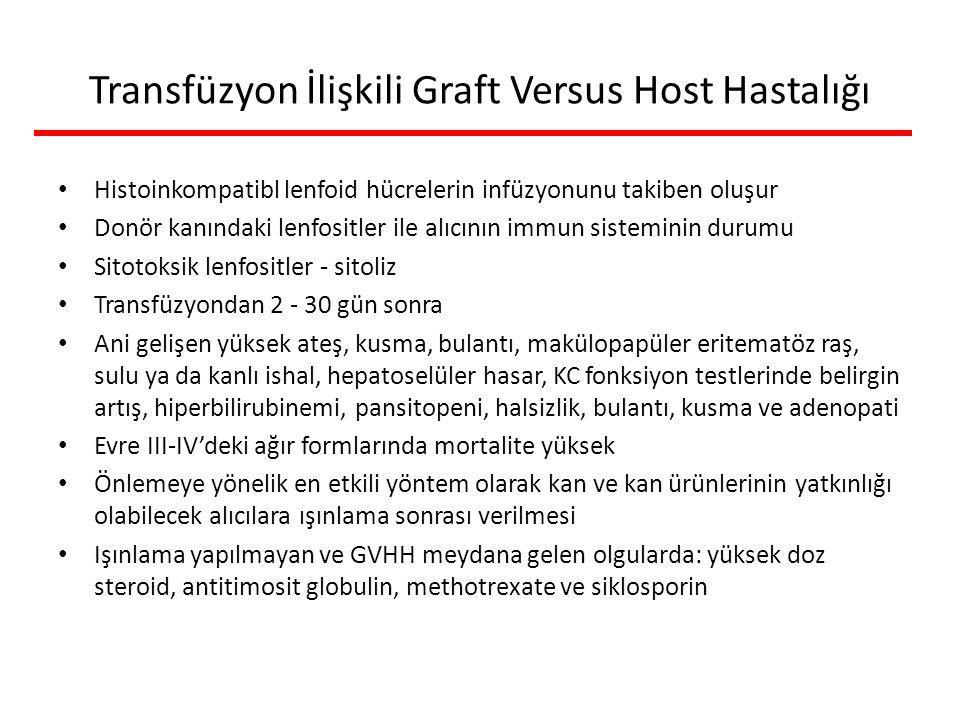 Transfüzyon İlişkili Graft Versus Host Hastalığı