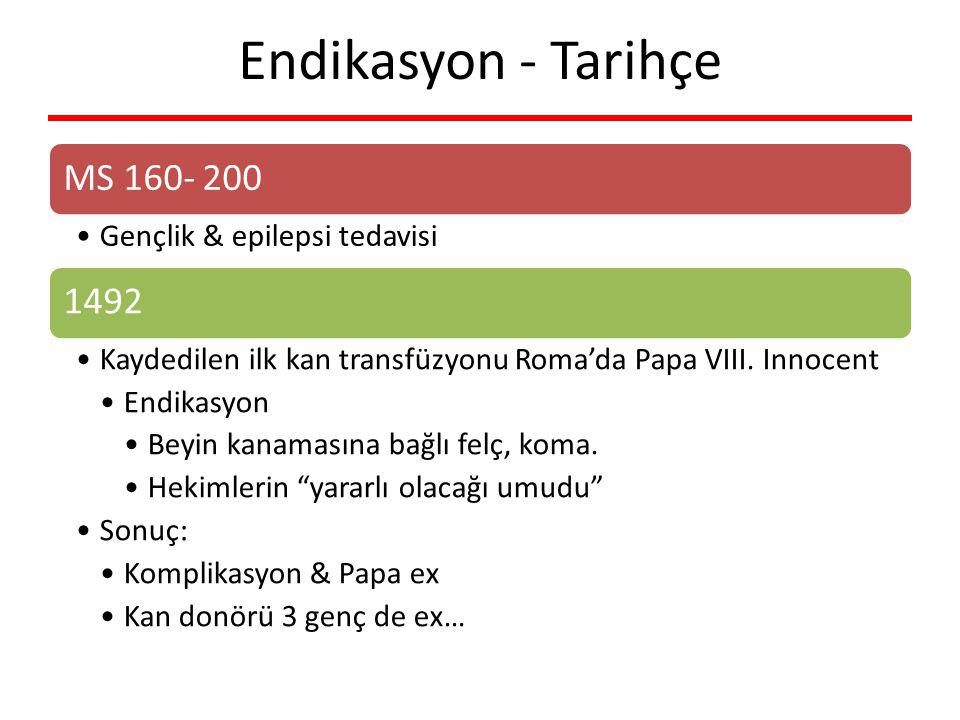 Endikasyon - Tarihçe Gençlik & epilepsi tedavisi