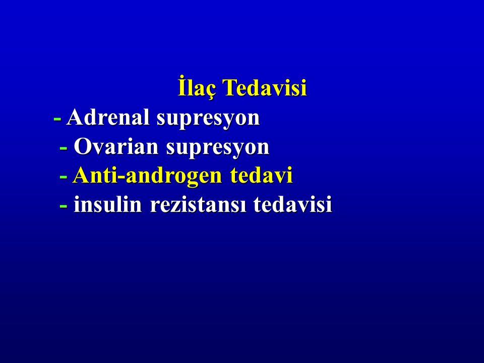 İlaç Tedavisi - Adrenal supresyon. - Ovarian supresyon.