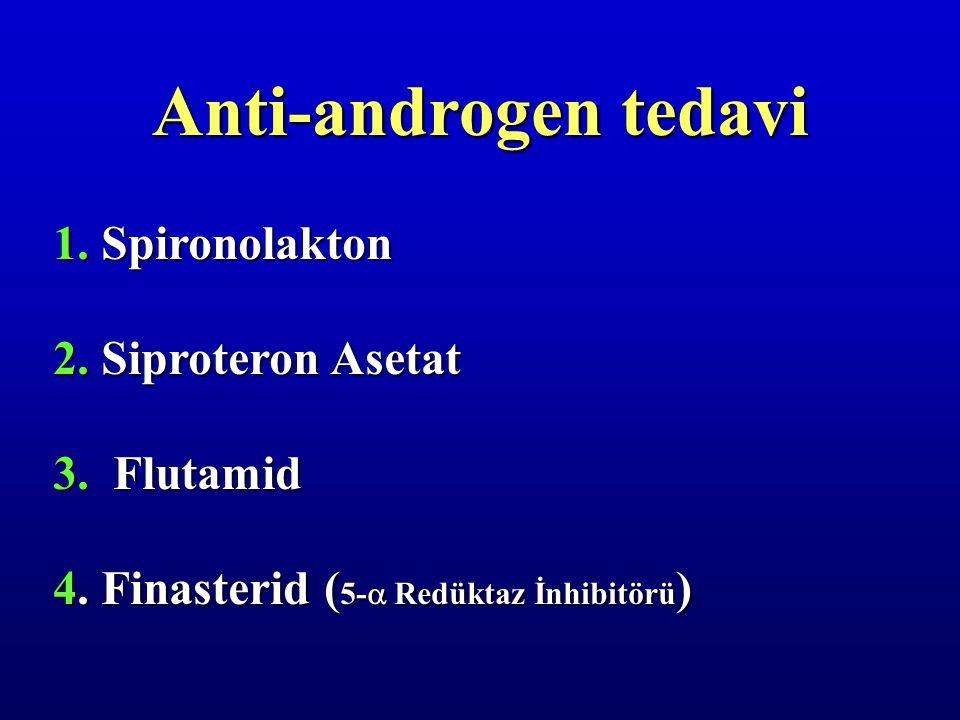 Anti-androgen tedavi 1. Spironolakton 2. Siproteron Asetat 3. Flutamid