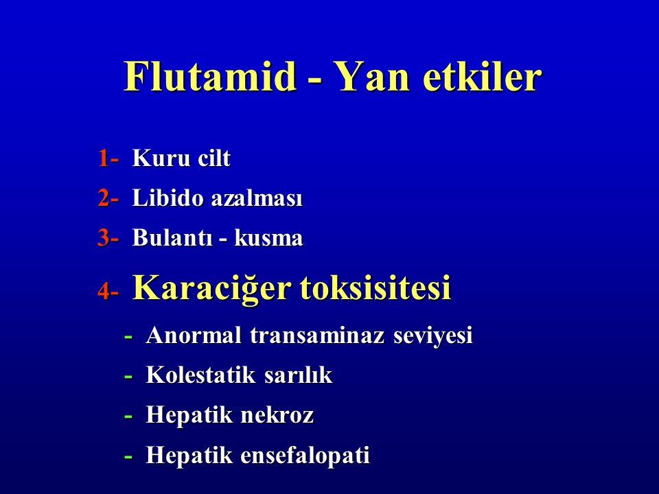 Flutamid - Yan etkiler 1- Kuru cilt 2- Libido azalması