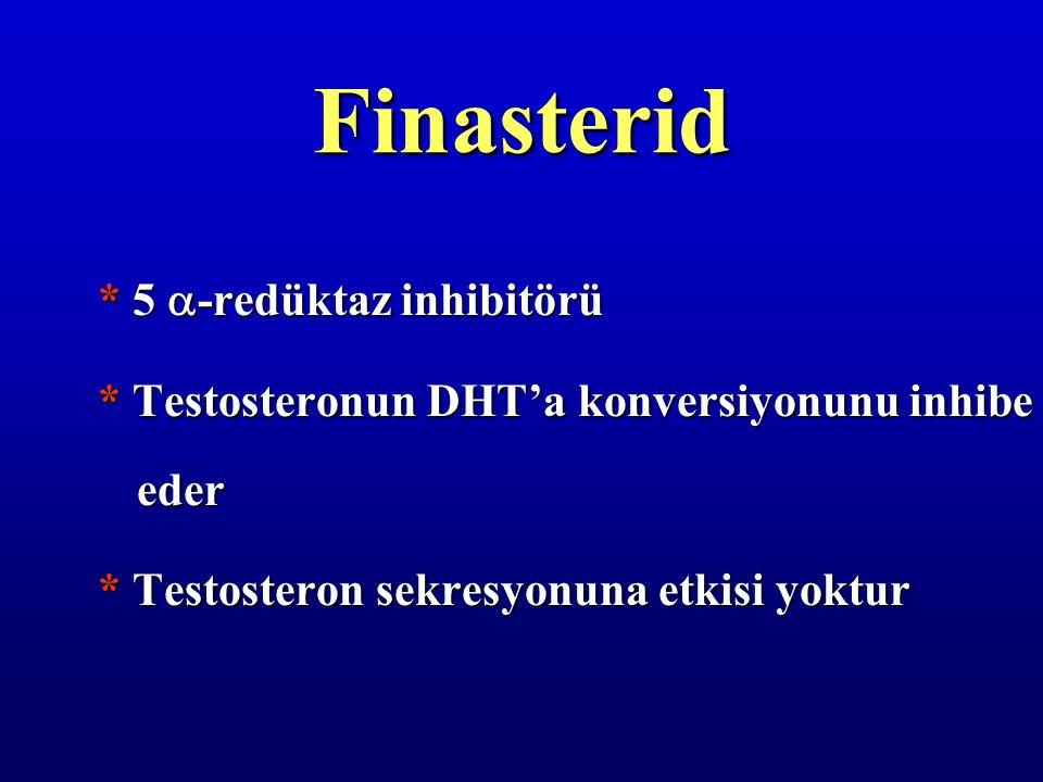 Finasterid * 5 -redüktaz inhibitörü