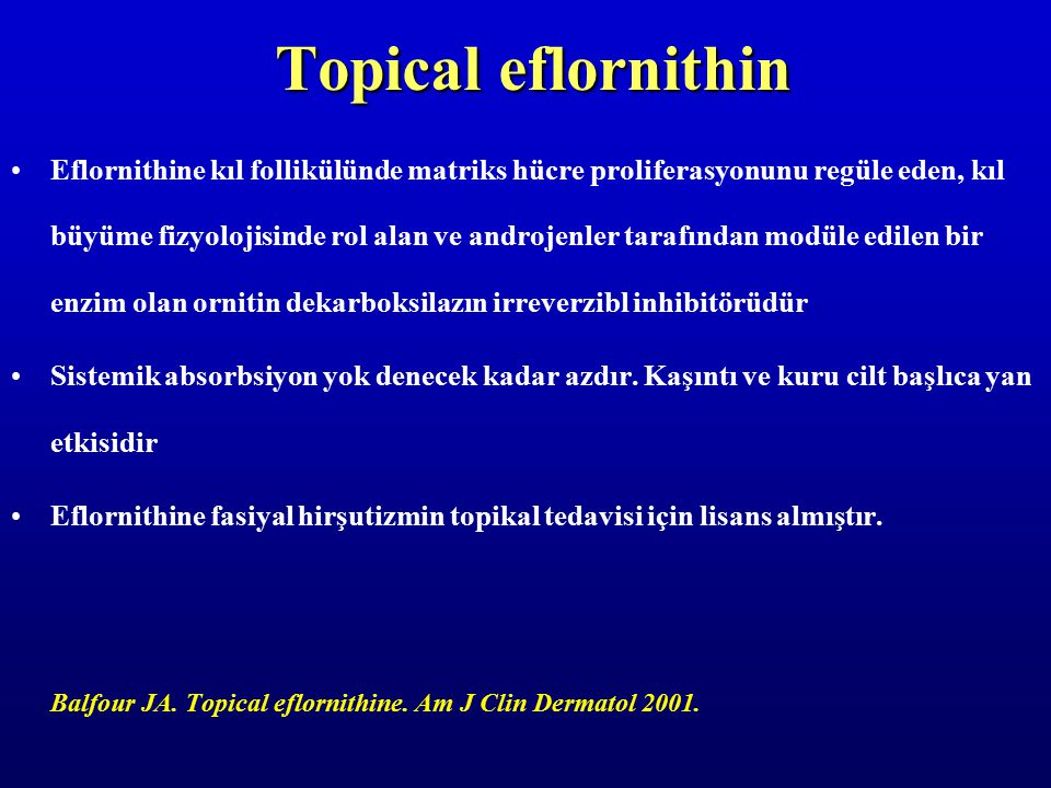 Topical eflornithin