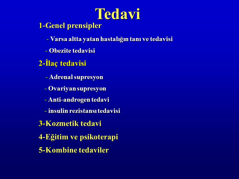 Tedavi 1-Genel prensipler