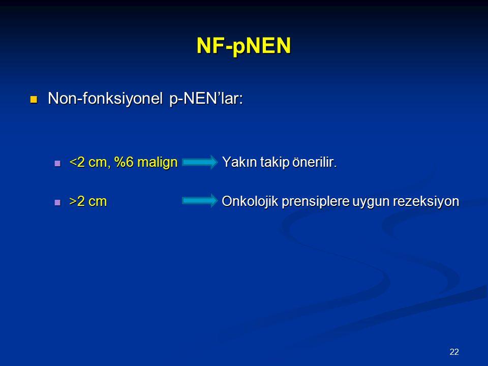 NF-pNEN Non-fonksiyonel p-NEN'lar: