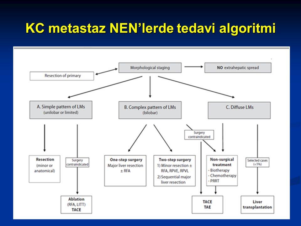 KC metastaz NEN'lerde tedavi algoritmi