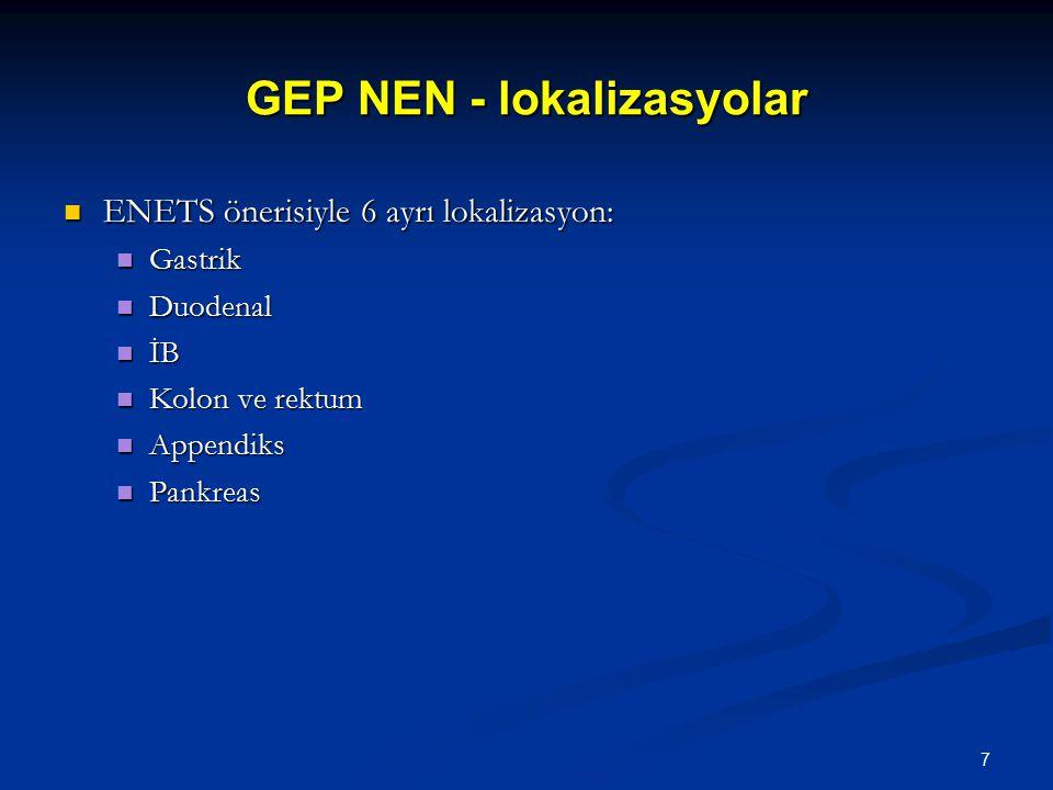 GEP NEN - lokalizasyolar