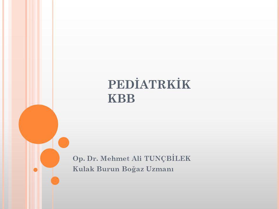 Op. Dr. Mehmet Ali TUNÇBİLEK Kulak Burun Boğaz Uzmanı