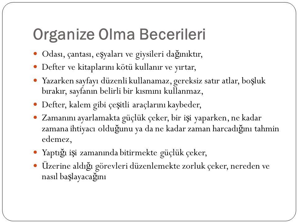 Organize Olma Becerileri