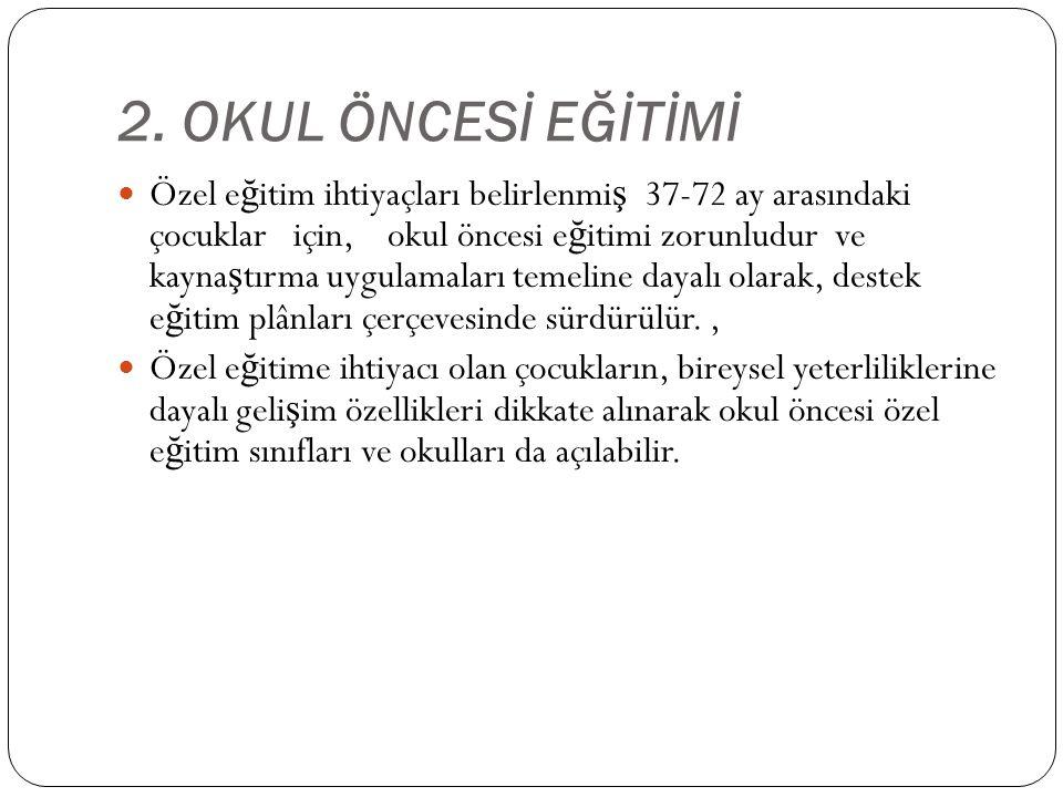 2. OKUL ÖNCESİ EĞİTİMİ