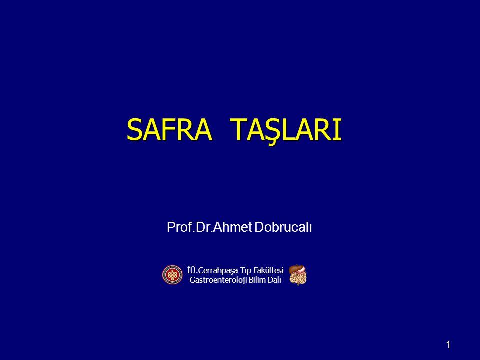 SAFRA TAŞLARI Prof.Dr.Ahmet Dobrucalı İÜ.Cerrahpaşa Tıp Fakültesi