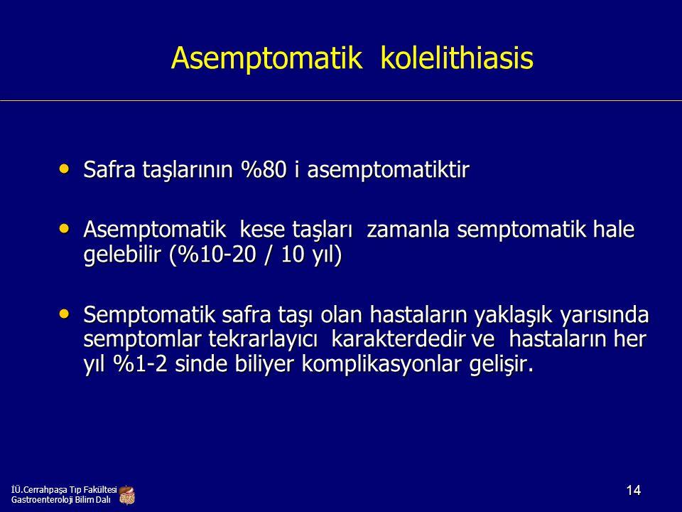 Asemptomatik kolelithiasis