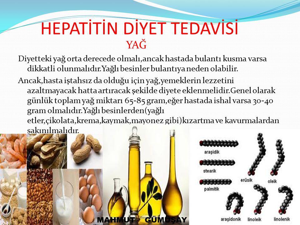 HEPATİTİN DİYET TEDAVİSİ