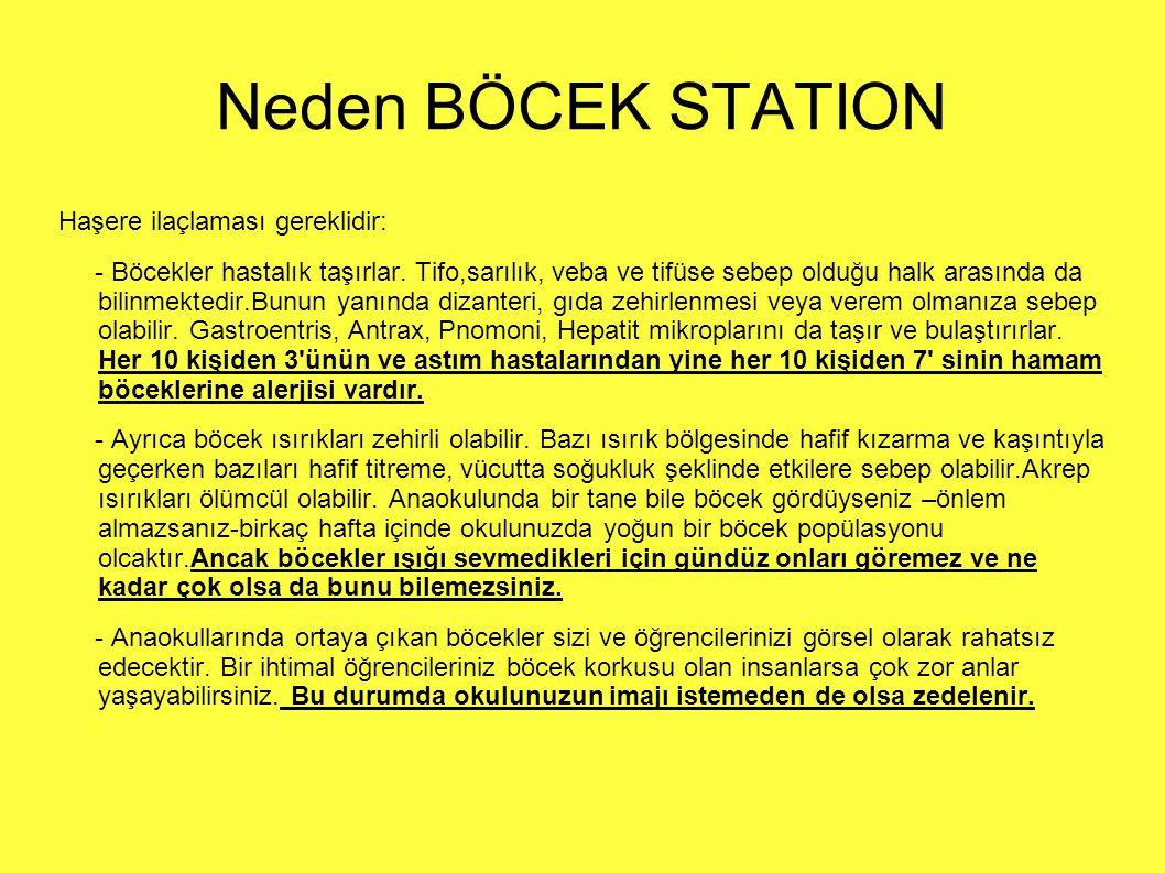 Neden BÖCEK STATION Haşere ilaçlaması gereklidir: