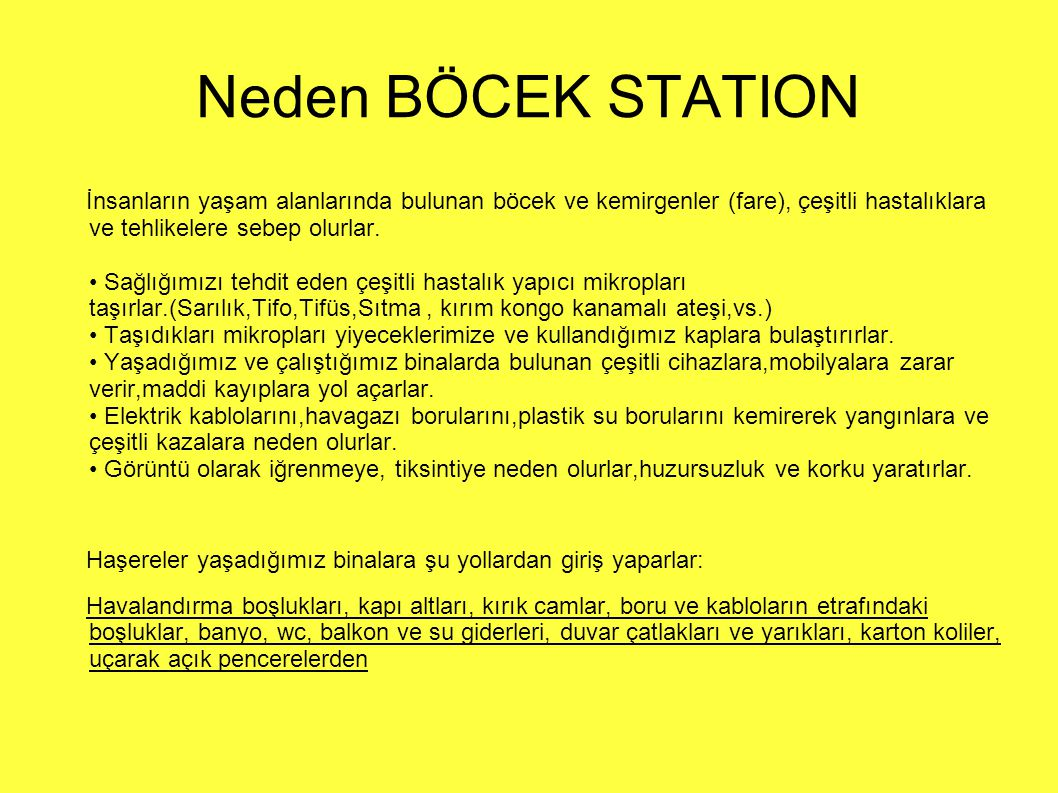 Neden BÖCEK STATION