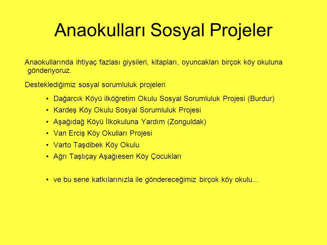 Anaokulları Sosyal Projeler