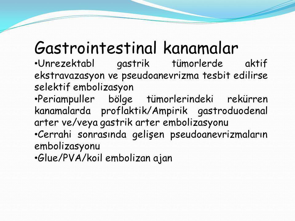 Gastrointestinal kanamalar