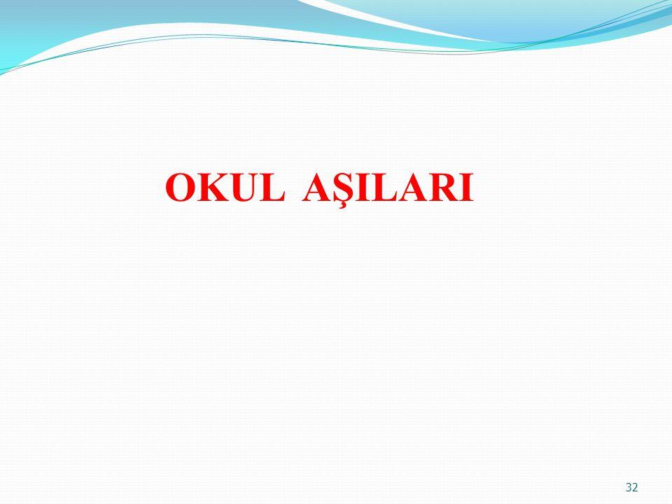 OKUL AŞILARI