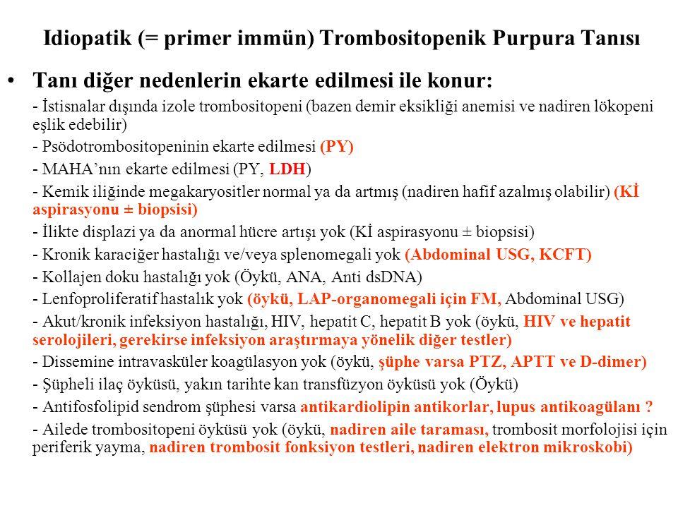 Idiopatik (= primer immün) Trombositopenik Purpura Tanısı