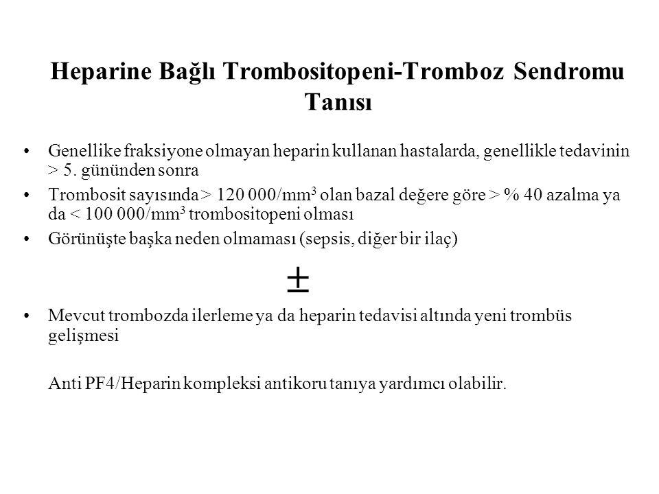 Heparine Bağlı Trombositopeni-Tromboz Sendromu Tanısı