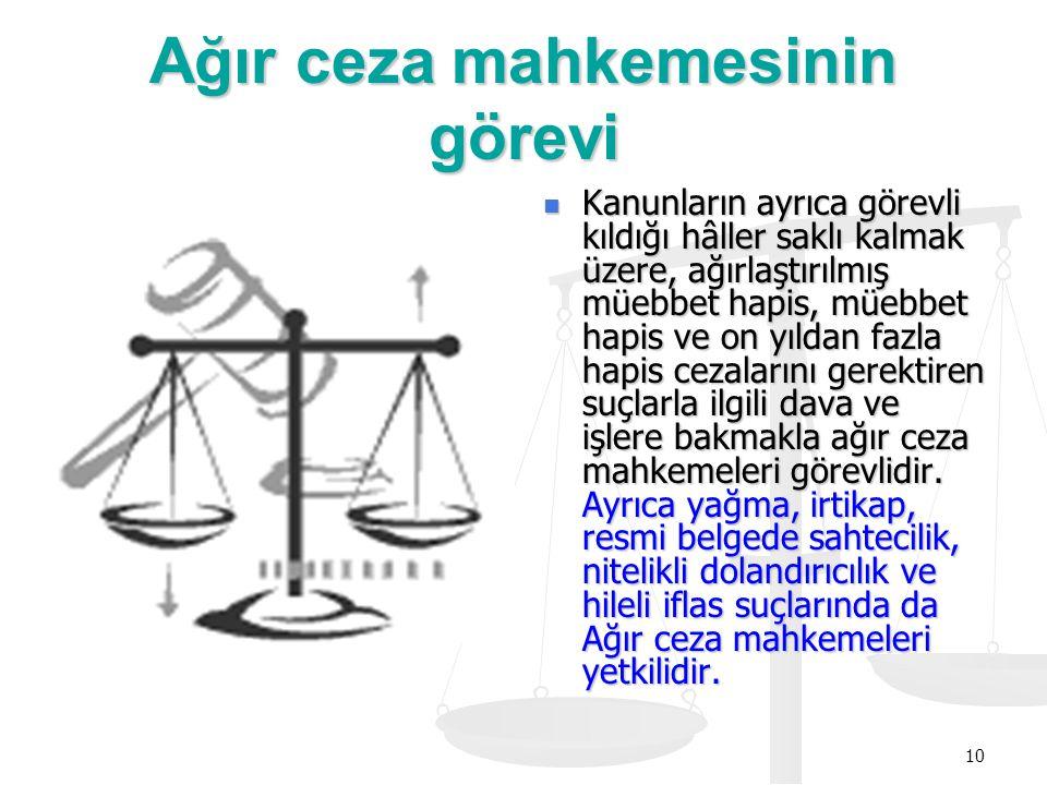 Ağır ceza mahkemesinin görevi