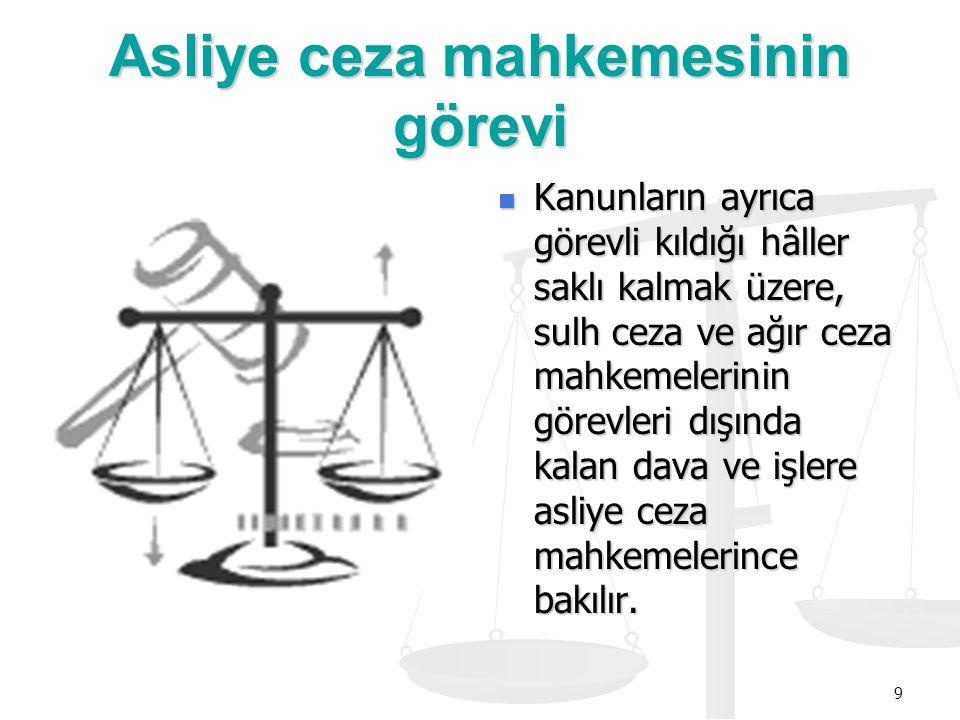 Asliye ceza mahkemesinin görevi