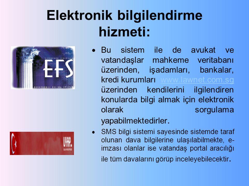 Elektronik bilgilendirme hizmeti: