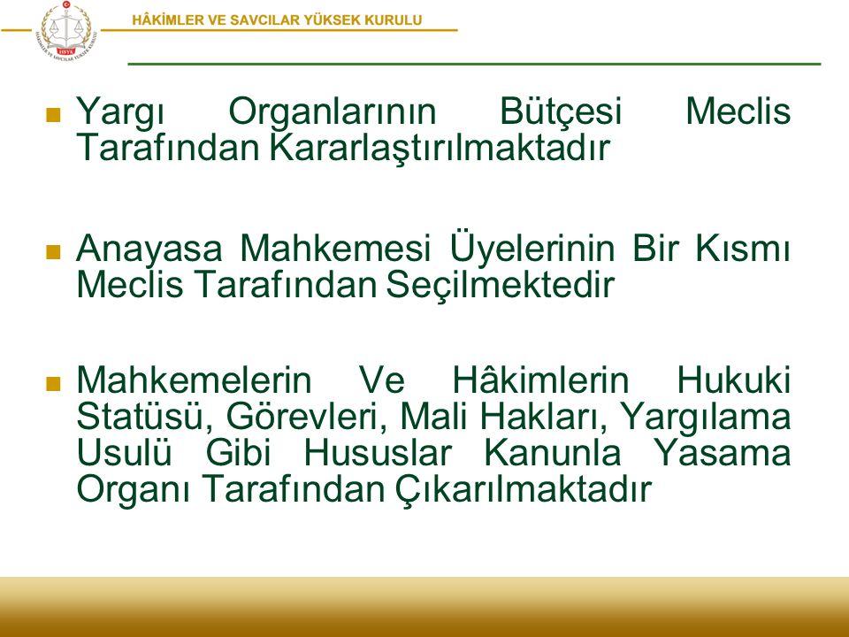 Yargı Organlarının Bütçesi Meclis Tarafından Kararlaştırılmaktadır