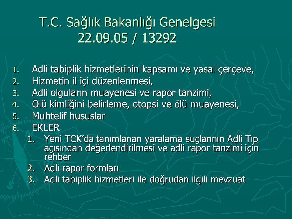 T.C. Sağlık Bakanlığı Genelgesi 22.09.05 / 13292