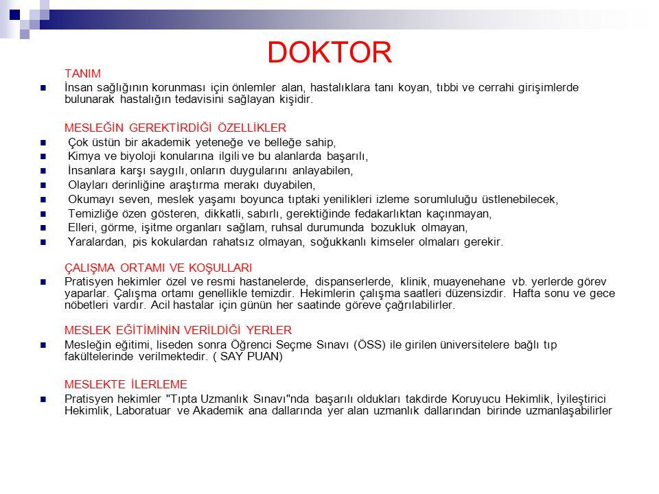 DOKTOR TANIM.